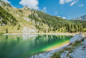 Krn lake in Slovenian mountains