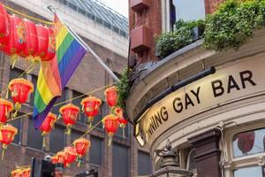 KU Bar. Bekannte Schwulenbar in London