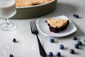 Kuchen mit Blaubeeren und Streusel