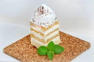 Kuchen mit Schlagsahne