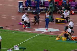 Kugelstoßerin Katarina Johnson-Thompson bei den IAAF Leichtathletik-Weltmeisterschaften 2017 in London