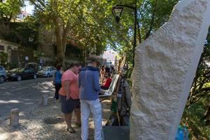 Künstler auf der Promenade in Lissabon