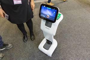 Künstliche Intelligenz: Medisana Home Care Roboter mit integrierter Gesundheits-App VitaDock+ zur Gesundheitskontrolle und mit Notruffunktion
