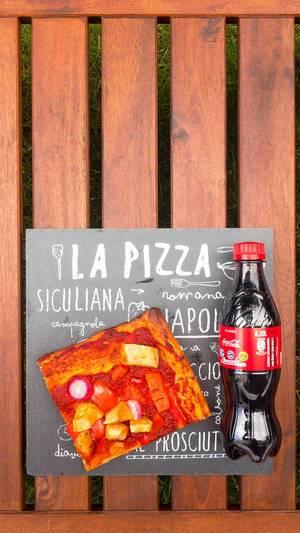 La Pizza und eine Coca Cola