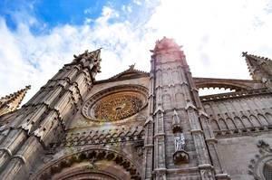 La Seu Cathedral or Catedral-Basilica de Santa Maria de Mallorca on Summer Day in Palma de Mallorca