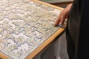 Landkarte von Deutschland als Puzzle - Boot Düsseldorf 2018