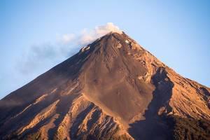 Landscape Nature Photo of Volcan de Fuego Stratovolcano in Guatemala