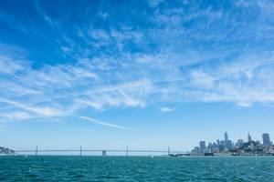 Landscape view of a bridge in San Francisco, California