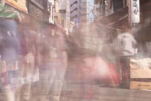 Langzeitbelichtung am Marktplatz - Tokyo, Japan