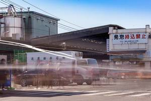 Langzeitbelichtung bei Tag: Der Fischmarkt in Tokio