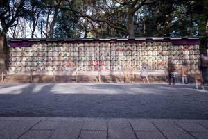 Langzeitbelichtung bei Tag im Yoyogi Park