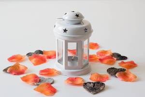Lantern with flower leaves