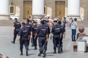 Large police presence at FIFA World Cup in Moscow