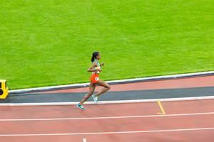Läuferin beim 10.000 Meter Lauf bei den  IAAF Leichtathletik-Weltmeisterschaften 2017 in London