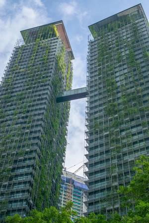 Le Nouvel Condominium across Petronas Twin Towers in Kuala Lumpur