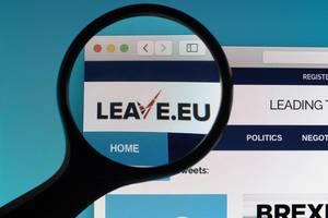 Leave.eu website under magnifying glass