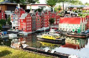 Lego replica of a european city