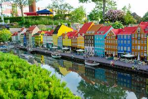 Lego replica of Nyhavn Street in Copenhagen, Denmark