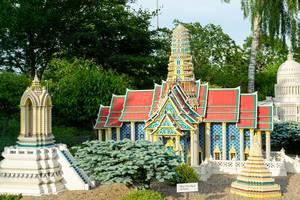Lego replica of the Wat Phra Keo temple