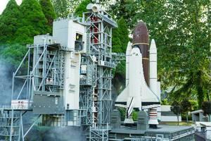 Lego replica of US NASA launching pad