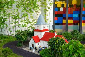 Lego wedding in a lego church