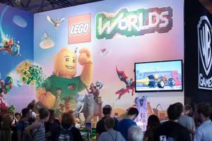 Lego Worlds Stand bei der Gamescom 2017