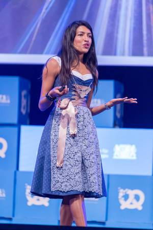 Leila Janah - SamaSource at her speech at the Bits & Pretzels Festival in Munich
