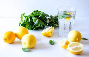 Lemon Water in a Glass