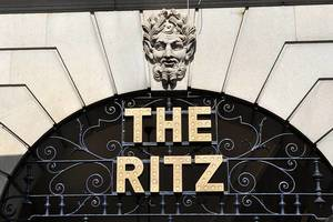 Lettering of The Ritz Hotel Chain Entrance Gate