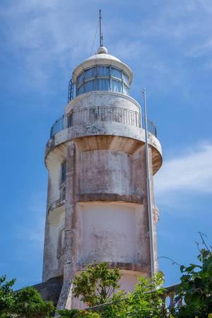 Leuchtturm im vietnamesischen Vung Tau im Stil französischer Architektur