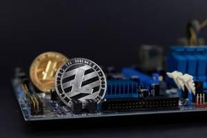 Litecoin auf einer Hauptplatine