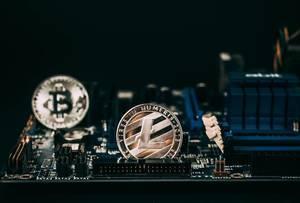 Litecoin und Bitcoin auf Hauptplatine
