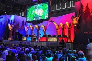 Live-Event für Spielenerds auf einer Videospielmesse