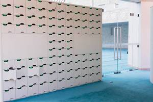 Lockers in the Mosque in Ehrenfeld, Cologne