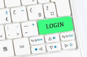 Login green keyboard button