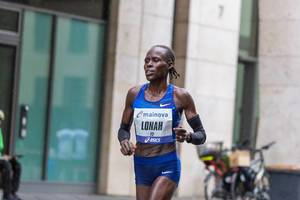 Lonah Chemtai Salpeter from Israel finishes fourth place at Frankfurt Marathon
