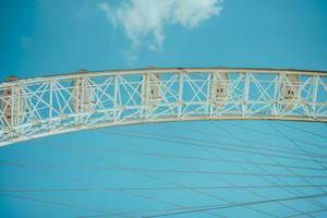 London Eye above the Thames, London, United Kingdom detail (Flip 2019)