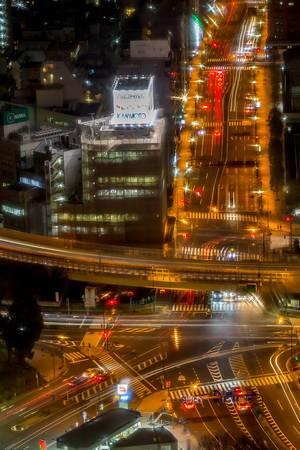 Long Exposure: Traffic in Tokyo at night