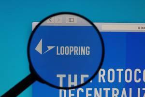Loopring logo under magnifying glass