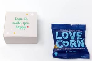 Love Corn - Geröstete Maiskörner mit Meersalz aus dem dreizehnten Türchen des veganen Foodist Active Adventskalenders