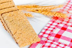 Low-calorie bread with wheat spikelets for diet