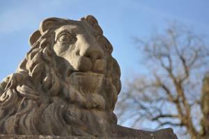 Löwenstatue im Mirabellgarten