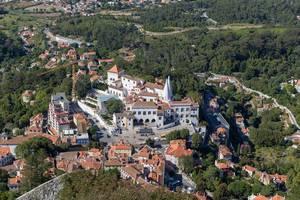 Luftaufnahme des Palastes in Sintra