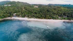 Luftaufnahme mit der Drohne von der Punta Bulata Küste
