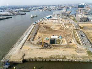 Luftbild: Baustelle Hamburg-Strandkai