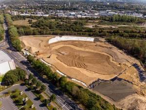 Luftbild der Baustelle / Deponie bei der AWB in Köln-Ossendorf