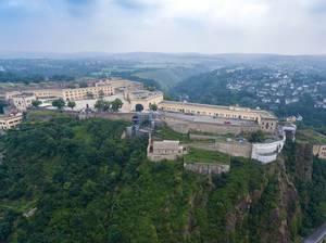 Luftbild der Festung Ehrenbreitstein