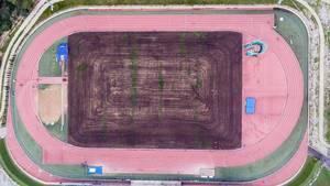 Luftbild der Laufbahn - ASICS Training Camp Mallorca