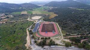 Luftbild der Laufbahn - ASICS Trainingscamp auf Mallorca
