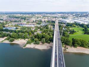 Luftbild der Zoobrücke Köln